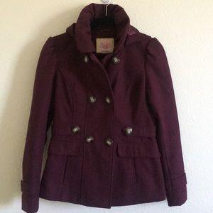 Burgundy Pea Coat